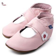 Inch Blue - 0980 S - Chaussures Bébé Ouvertes Souples - Mary Jane - Rose Clair - T 17-18 cm - Chaussures inch blue (*Partner-Link)