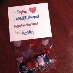 Cute boy valentine idea!