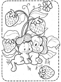 Coloring Book~Strawberry Shortcake - Bonnie Jones - Picasa Web Albums