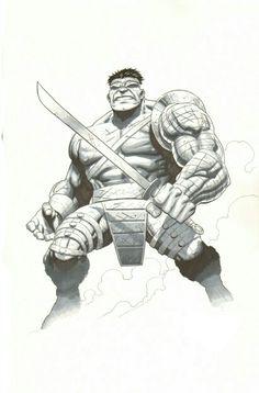 #Hulk #Fan #Art. (Planet HULK) By: Jim Cheung. (THE * 5 * STÅR * ÅWARD * OF: * AW YEAH, IT'S MAJOR ÅWESOMENESS!!!™) ÅÅÅ+