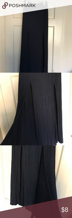 Maxi skirt Dark navy blue maxi skirt from AF size XS has two slits in the front Abercrombie & Fitch Skirts Maxi