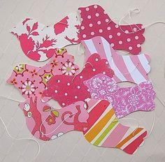 Bright Pink Bird Garland by paperklipdesign on Etsy, $15.00