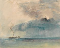 J. M. W. Turner (1775–1851)      A Paddle-steamer in a Storm / Watercolor  /  circa 1841