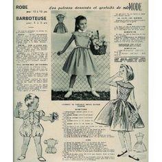 Votre Mode - n°586 - 22/05/1958 - Robe et barboteuse [Patron mis en vente par Presse-Mémoire]