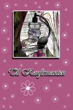 Perfume - Konfirmasjonskort til jente Dobbelt kort med god plass til  skrive. Konvolutt medflger.  Foto/design: Randi Grace Nilsberg