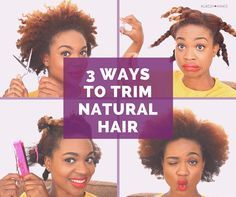 3 Ways to Trim Natural Hair by Yourself | KlassyKinks.com