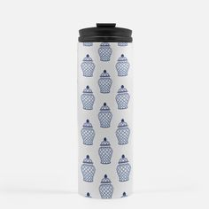 A darling addition to our product line, especially for the gal on the go! Our new 16 oz thermal tumblers are well-insulated to help keep your drink hot or cold.  Our preppy pattern wraps around the tumbler, and it has a black snap-top. Hand Wash Only Do Not Microwave