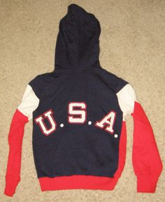 *VINTAGE* 1980 USA HOCKEY TEAM 2 SIDED RED/WHITE/BLUE HOODY/HOODIE BOYS SZ SMALL in Sports Mem, Cards & Fan Shop, Fan Apparel & Souvenirs, Football-NFL | eBay