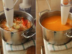 supa crema de ardei copti preparare 3 Good Food, Yummy Food, Food And Drink, Soup, Tasty, Cooking, Ethnic Recipes, Baking Center, Delicious Food