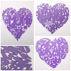 Mothers Day paper cut hearts - pinned by pin4etsy.com