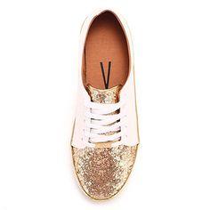 41f4f60cd9 Tênis Casual Feminino Vizzano - Dourado(A) Ladies Shoes