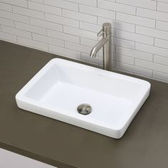 DECOLAV Classically Redefined Semi-Recessed Bathroom Sink & Reviews   Wayfair.ca