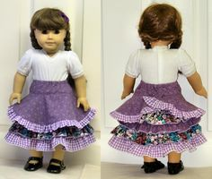 Ingrid Euro Style Skirt for 18 in dolls - via @Craftsy