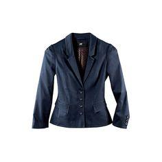 Veste propre bleu foncé ❤ liked on Polyvore featuring outerwear, jackets, blazers, h&m, coats, blue jackets, blue blazer, blazer jacket, blue blazer jacket and h&m jackets