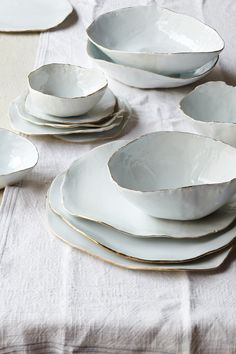 Molosco Dinner Service by Laura Letinsky. Absolutely beautiful! You can buy the set from American site Artware Editions.