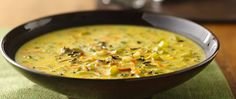 Homemade wild rice soup ready in just 30 minutes! Mmm.