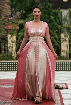 pink caftan. Like the design and colors but not the texture.