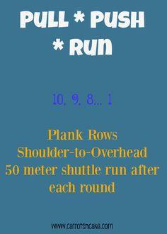 pull push run workout