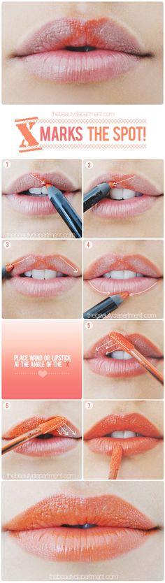 cupids bow trick: lip liner used Makeup Forever Aqua Lip Waterproof Lipliner Pencil; lip gloss used Giorgio Armani Lip Maestro