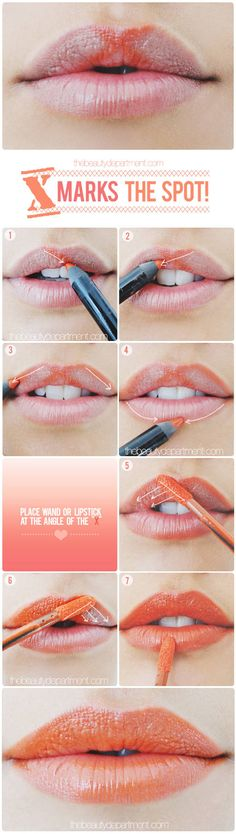 cupids bow trick for lips