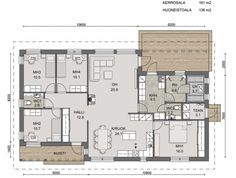 Home Technology, Future House, Floor Plans, Flooring, Bungalows, How To Plan, House Ideas, Wood Flooring, Bungalow
