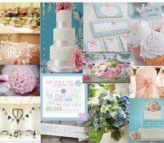 pink and blue wedding theme | Pink and blue wedding theme