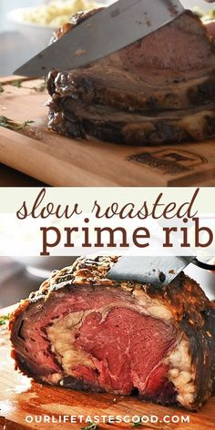 The BEST Prime Rib Roast recipe ever! In this article you'll find everything you need to make a slow roasted Boneless Prime Rib Roast for your holiday dinner. Prime Rib Recipe Easy, Boneless Prime Rib Recipe, Rib Roast Recipe, Slow Roasted Prime Rib, Smoked Prime Rib, Smoked Ribs, Rib Recipes, Roast Recipes, Cooking Recipes