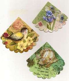 I always enjoy creating corner bookmarks , so just signed myself right up for a fabulous swap over in ART Haven . These are going to C...