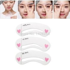 1 Set of 3pcs Exquisite Eyebrow Stencil Grooming Shaping Card Kit Template Makeup Tool Mini Brow Class Drawing Guide  Makeup Tools Eyebrow Drawing Guide Card eyebrow shaping card eyebrow grooming card eyebrow stencil Drawing Guide grooming shaping template DIY Eyebrow Shapes Eyebrow Card Eyebrow Drawing Card