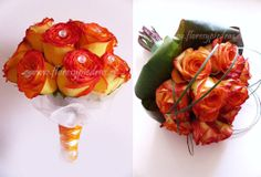Bouquets para novias modelos Flores y Piedras www.floresypiedras.cl