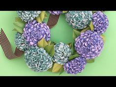 Make a Paper Flower Hydrangea Wreath - YouTube