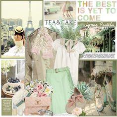 Mint green :) my favorite color. Pretty, Simple, French