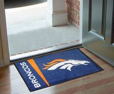 Let everyone know which pigskin team reigns supreme when guests enter your home. Put your loyalty in plain view with this Denver Broncos Starter Mat by Fanmats. The nylon mat is chromojet painted in t
