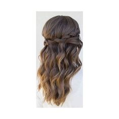 30 Our Favorite Wedding Hairstyles For Long Hair ❤ liked on Polyvore featuring beauty products, haircare, hair styling tools and hair