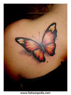 Rose With Butterfly Tattoos Designs 1 - Tattoospedia