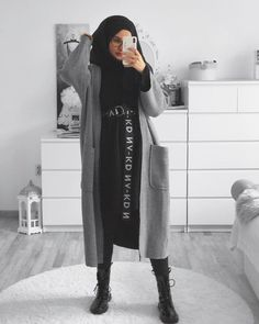 ◼️▪️ Difficult roads often lead to a beautiful destination ▪️◾️ {Werbung Modest Fashion Hijab, Modern Hijab Fashion, Hijab Casual, Hijab Fashion Inspiration, Hijab Chic, Muslim Fashion, Mode Inspiration, Fashion Outfits, Hijab Dress