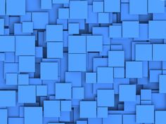 Blue squares background.