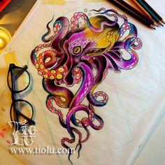 37 fresh pineapple tattoo designs for tropical vibes 29 Sketch Style Pineapple Tattoo by - Tattoo MAG Cute Octopus Tattoo, Octopus Tattoos, Body Art Tattoos, Small Tattoos, Sleeve Tattoos, Chef Tattoo, Freundin Tattoos, Nail Tattoo, Metallic Nails