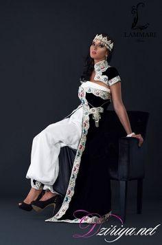 Les créations de Kaouthar Lammari sont une palette colorée et raffinée de l'art vestimentaire algérien. La créatrice se passionne pour les différentes tenues kabyles, chaouia, annabiya, algéroises,...