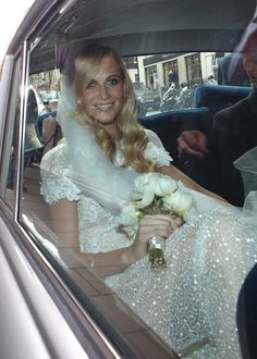 Poppy Delevigne in a custom 'Chanel' wedding gown | Wedding | Bride | Celebrity Bride | Eiseman Bridal
