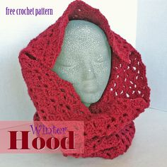 Free Crochet Pattern - Winter Hood