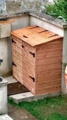 cache poubelle double pour poubelles sur roulettes pour l 39 ext rieur bois pin nordique. Black Bedroom Furniture Sets. Home Design Ideas