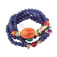 Unik Bohemian Style legering med Pärlor Kvinnors Armband (Fler färger) - USD $ 7.67