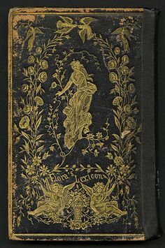 Antique book cover Flora's Lexicon
