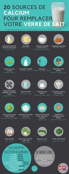 20 sources de calcium pour remplacer un verre de lait - Vifa - Health Wellness Source De Calcium, Vegan Art, Vegan Food, Types Of Yogurt, Calcium Deficiency, Stronger Teeth, Healthy Body Weight, Good Foods To Eat, Natural Home Remedies