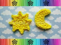 Sun Moon Star Cloud and More Applique by EverLaughter - Craftsy