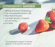 Strawberry Garden made with Shakeology. Get yours: http://www.shakeology.com/where-to-buy?TRACKING=SOCIAL_SHK_PI