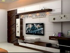Modern TV wall units for living rooms - Wooden TV cabinets designs 2020 Wall Unit Designs, Tv Stand Designs, Living Room Tv Unit Designs, Modern Tv Room, Modern Tv Wall Units, Modern Living, Minimalist Living, Modern Wall, Tv Unit Furniture Design