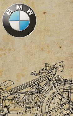 BMW R32 1923 Classic Motorcycles good looking poster!!