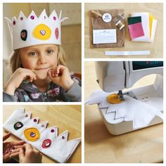 Love this easy-to-make felt crown for kids!